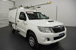 2011 Toyota Hilux KUN26R MY12 SR (4x4) White 5 Speed Manual Cab Chassis Moorabbin Kingston Area Preview