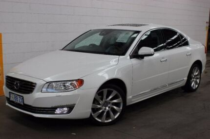2014 Volvo S80 A Series MY14 T6 Geartronic AWD Luxury White 6 Speed Sports Automatic Sedan