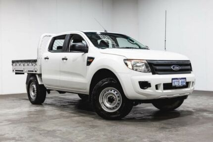 2014 Ford Ranger PX XL Double Cab 4x2 Hi-Rider White 6 Speed Sports Automatic Cab Chassis Welshpool Canning Area Preview