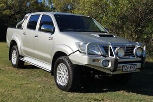 2012 Toyota Hilux KUN26R MY12 SR5 Double Cab Silver 5 Speed Manual Utility Bundaberg West Bundaberg City Preview
