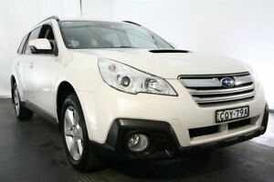 2013 Subaru Outback B5A MY13 2.0D Lineartronic AWD White 7 Speed Constant Variable Wagon Maryville Newcastle Area Preview