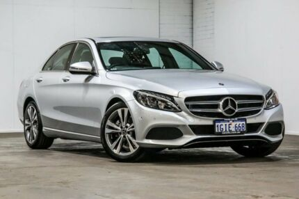 2017 Mercedes-Benz C200 W205 807+057MY 9G-TRONIC Silver 9 Speed Sports Automatic Sedan Welshpool Canning Area Preview