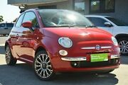 2010 Fiat 500C Series 1 Dualogic Red 5 Speed Sports Automatic Single Clutch Convertible Hillcrest Port Adelaide Area Preview