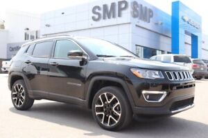 2018 Jeep Compass Limited- Htd Leather, Sunroof, Nav, R. Start,