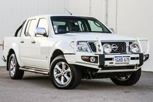 2013 Nissan Navara D40 S5 MY12 ST-X 550 White 7 Speed Sports Automatic Utility East Rockingham Rockingham Area Preview