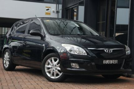 2009 Hyundai i30 FD MY09 SLX Black 4 Speed Automatic Hatchback Petersham Marrickville Area Preview