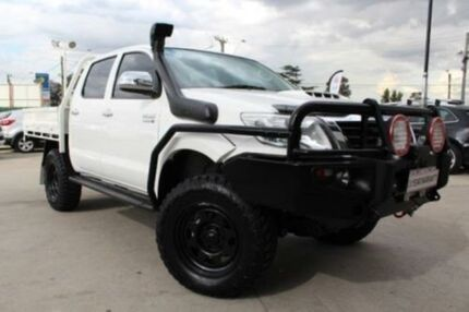 2012 Toyota Hilux KUN26R MY12 SR (4x4) White 5 Speed Manual Dual Cab Chassis Lansvale Liverpool Area Preview