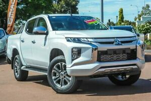 2019 Mitsubishi Triton MR MY19 GLS Double Cab White Diamond 6 Speed Sports Automatic Utility
