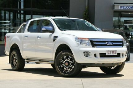 2014 Ford Ranger PX XLT Double Cab White 6 Speed Sports Automatic Utility Moorooka Brisbane South West Preview