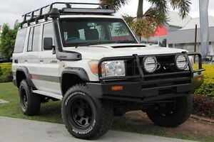 2011 Toyota Landcruiser VDJ76R MY10 Workmate White 5 Speed Manual Wagon Kedron Brisbane North East Preview