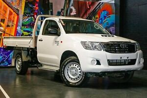 2015 Toyota Hilux KUN26R MY14 SR White 5 Speed Manual Cab Chassis Northbridge Perth City Area Preview