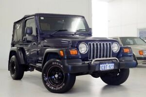 2005 Jeep Wrangler TJ MY2005 Sport Blue 6 Speed Manual Softtop Myaree Melville Area Preview