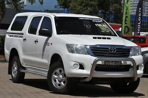 2011 Toyota Hilux KUN26R MY12 SR (4x4) White 4 Speed Automatic Dual Cab Pick-up Zetland Inner Sydney Preview