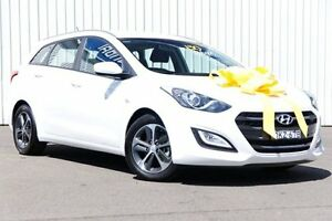 2016 Hyundai i30 GDe4 Series II  Tourer DCT White 7 Speed Sports Automatic Dual Clutch Wagon Kings Park Blacktown Area Preview