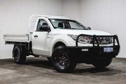 2015 Mitsubishi Triton MQ MY16 GLX White 6 Speed Manual Cab Chassis Welshpool Canning Area Preview