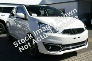 2018 Mitsubishi Mirage LA MY18 LS White 1 Speed Constant Variable Hatchback Hoppers Crossing Wyndham Area Preview