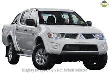 2012 Mitsubishi Triton MN MY12 GL-R Double Cab White 4 Speed Automatic Utility Northbridge Perth City Preview