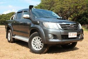 2013 Toyota Hilux KUN26R MY14 SR5 Double Cab Charcoal Grey 5 Speed Manual Utility The Gardens Darwin City Preview