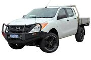 2014 Mazda BT-50 UP0YF1 XT White 6 Speed Manual Cab Chassis Midland Swan Area Preview