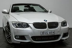 2011 BMW 335i E93 MY0911 M Sport D-CT White 7 Speed Sports Automatic Dual Clutch Convertible Rozelle Leichhardt Area Preview
