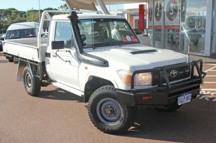 2012 Toyota Landcruiser VDJ79R MY13 Workmate French Vanilla 5 Speed Manual Cab Chassis