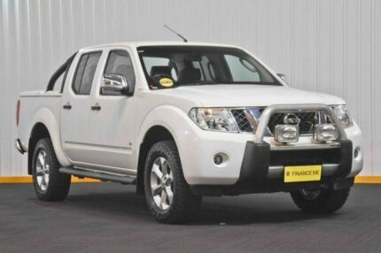2012 Nissan Navara D40 S5 MY12 ST-X 550 White 7 Speed Sports Automatic Utility