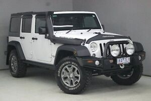 2015 Jeep Wrangler JK MY2016 Unlimited Rubicon White 5 Speed Automatic Softtop Greensborough Banyule Area Preview