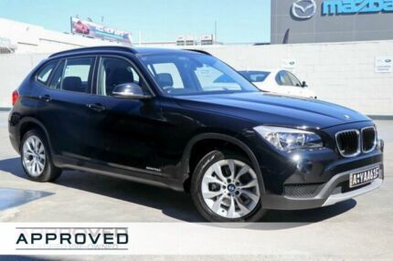 2013 BMW X1 E84 LCI MY0713 sDrive18d Steptronic Black 8 Speed Sports Automatic Wagon