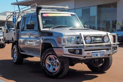 2013 Toyota Landcruiser VDJ79R MY13 GXL Double Cab Silver Pearl 5 Speed Manual Cab Chassis