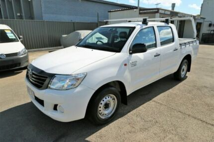 2013 Toyota Hilux TGN16R MY14 Workmate Double Cab 4x2 White 4 Speed Automatic Utility Cheltenham Kingston Area Preview