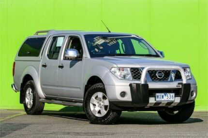 2009 Nissan Navara D40 ST-X Silver 6 Speed Manual Utility Ringwood East Maroondah Area Preview