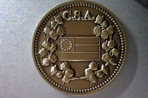 1861-1865  C.S.A. Confederate Civil War Bronze Commemorative Token