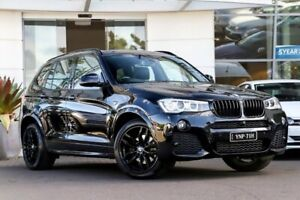 2015 BMW X3 F25 LCI xDrive30d Steptronic Black 8 Speed Sports Automatic Wagon Kirrawee Sutherland Area Preview