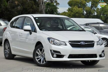2015 Subaru Impreza G4 MY15 White 6 Speed Constant Variable Hatchback Capalaba West Brisbane South East Preview