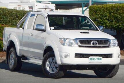 2010 Toyota Hilux KUN26R MY10 SR5 Xtra Cab Glacier White 5 Speed Manual Utility Acacia Ridge Brisbane South West Preview