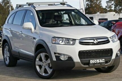 2011 Holden Captiva CG Series II 7 LX Olympic White 6 Speed Auto Seq Sportshift Wagon Penrith Penrith Area Preview
