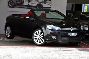 2012 Volkswagen Golf VI MY13 118TSI DSG Black 7 Speed Sports Automatic Dual Clutch Cabriolet Doncaster Manningham Area Preview