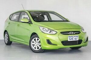 2012 Hyundai Accent RB Active Green 4 Speed Sports Automatic Hatchback Bellevue Swan Area Preview