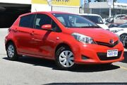 2011 Toyota Yaris NCP130R YR Red 5 Speed Manual Hatchback Claremont Nedlands Area Preview