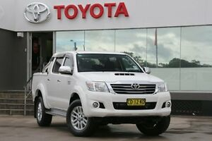 2015 Toyota Hilux KUN26R MY14 SR5 (4x4) White 5 Speed Automatic Dual Cab Pick-up Old Guildford Fairfield Area Preview
