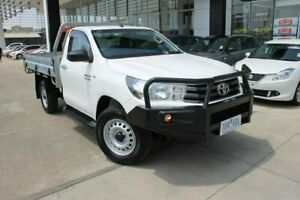 2015 Toyota Hilux GUN126R SR White 6 Speed Manual Cab Chassis Hoppers Crossing Wyndham Area Preview