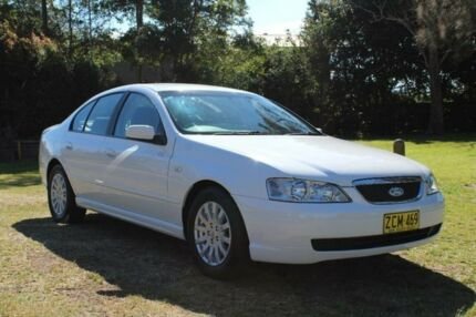 2003 Ford Fairmont BA White 4 Speed Auto Seq Sportshift Sedan