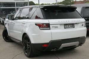 2014 Land Rover Range Rover LW Sport SDV8 HSE Dynamic White 8 Speed Automatic Wagon Petersham Marrickville Area Preview