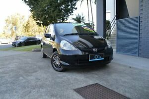 2005 Honda Jazz GD MY05 VTi Black 7 Speed Constant Variable Hatchback Ashmore Gold Coast City Preview