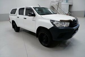 2016 Toyota Hilux GUN125R Workmate Double Cab White 6 Speed Sports Automatic Utility Kenwick Gosnells Area Preview