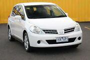 2012 Nissan Tiida C11 S3 ST White 4 Speed Automatic Hatchback Heatherton Kingston Area Preview