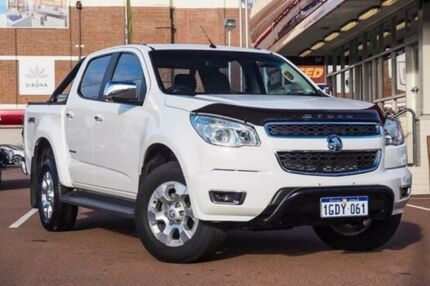 2015 Holden Colorado RG MY15 Storm Crew Cab White 6 Speed Manual Utility