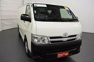 2012 Toyota Hiace KDH201R MY12 Upgrade LWB White Solid 4 Speed Automatic Van