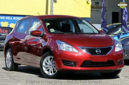 2015 Nissan Pulsar C12 Series 2 ST Cayenne Red Continuous Variable Hatchback Gymea Sutherland Area Preview
