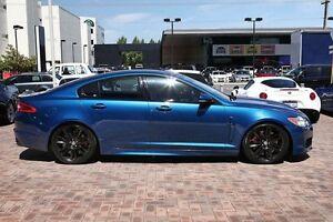 2010 Jaguar XF X250 MY10 XFR Kyanite Blue 6 Speed Sports Automatic Sedan Osborne Park Stirling Area Preview